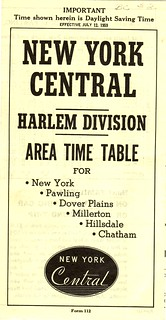 New York Central schedule cover