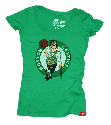 Boston Celtics Logo T Shirt By Sportiqe