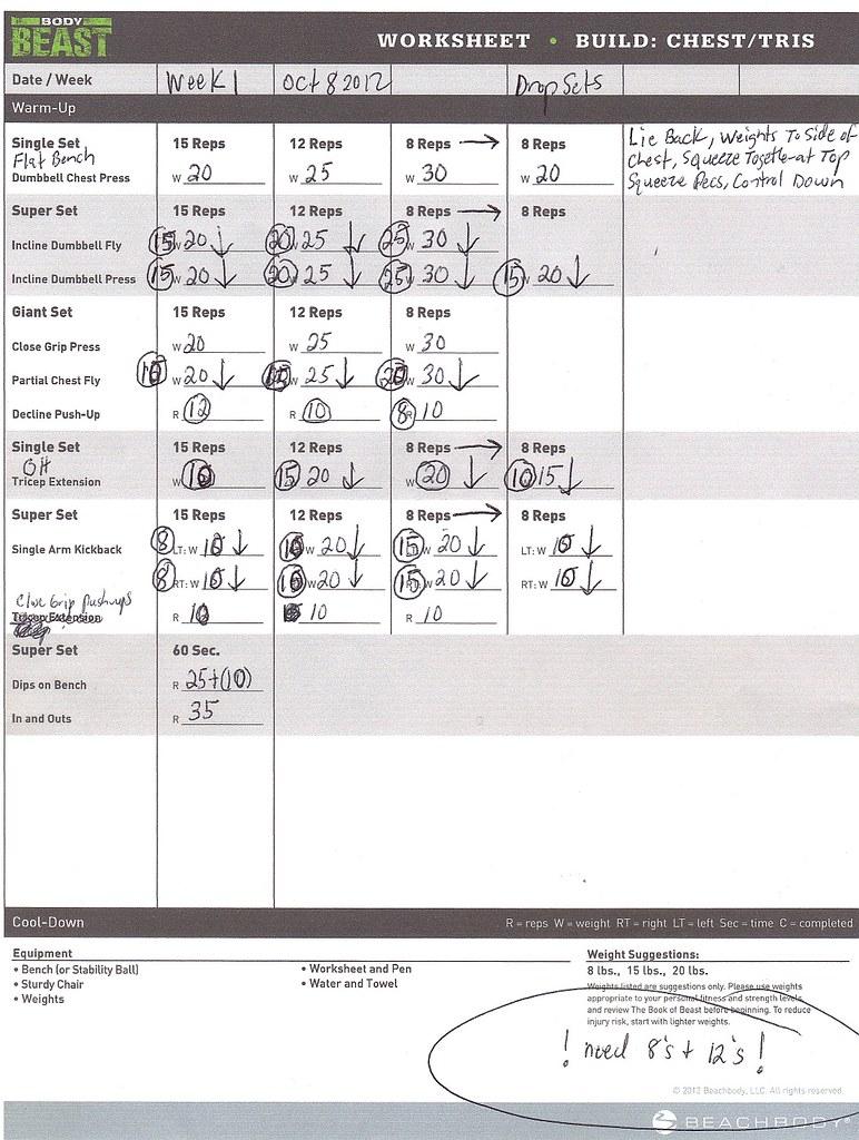Beachbody Workout Sheets Body Beast – Beachbody Worksheets