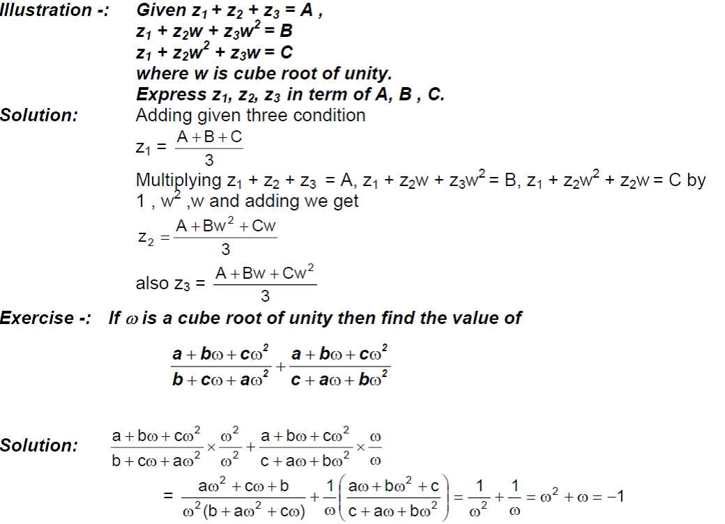Cube Root of Unity Examples