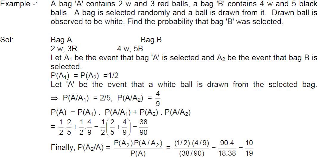 Class 12 Maths Notes: Probability – Bayes' Theorm ...