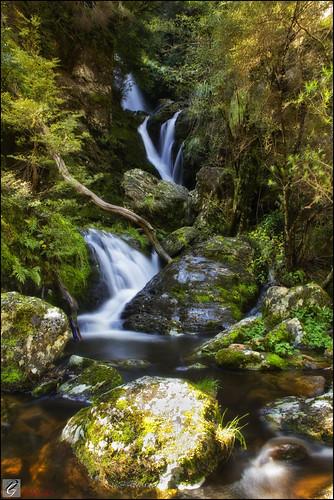 new dan waterfall long exposure crystal falls zealand le nz otago base hdr goodwin waipori pommedan dgimages
