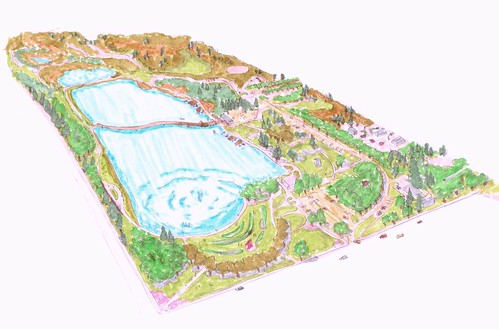 rendering of the 'North Park' portion of the site (by: Shengnan An, courtesy of UC Davis)