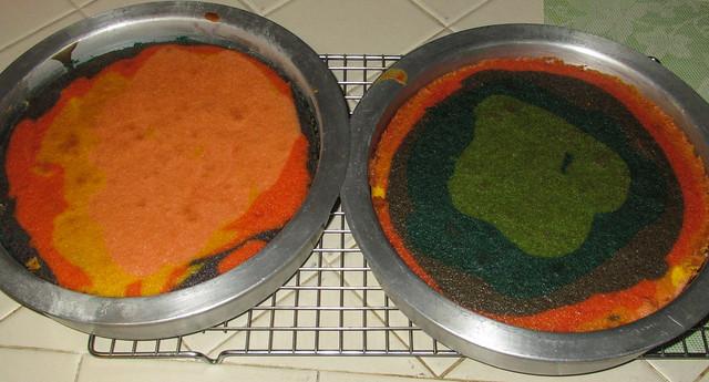 Tie Dye Cake With Sprinkle Frosting