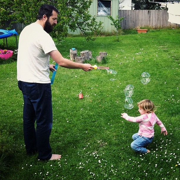 Sweet Moves Chasing Bubbles. #playing #bubbles