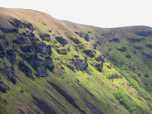 Borde del cráter de Rano Kau