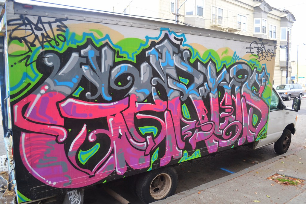 GERMS, Graffiti, Street Art, Oakland, truck
