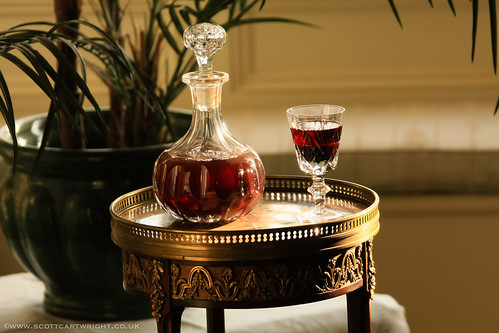 Crystal Decanter & Glass