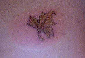 maple leaf tattoo