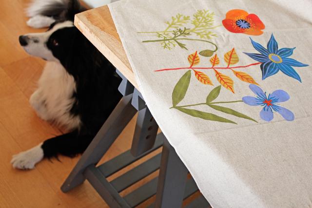 Flowers on linen