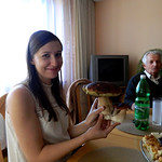 Kasia, great-grandad and mushroom