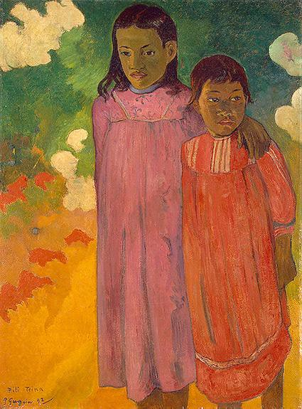 gauguin paul two sisters