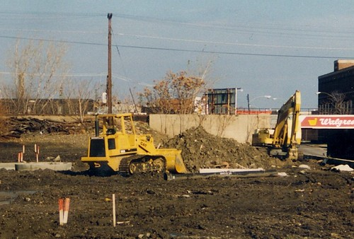 Redeveloping the former site of the Grand Trunk Western Railroad's Elsdon roundhouse at West 49th Street and South Kedzie Avenue.  Chicago Illinois.  November 1988. by Eddie from Chicago