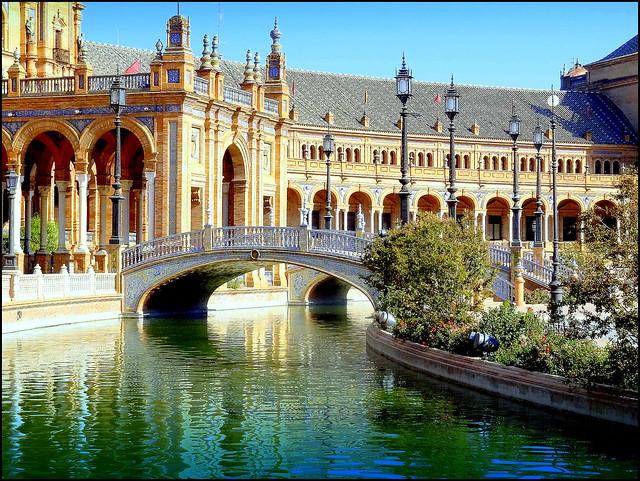 Spain, Seville. Plaza de Espana  Flickr - Photo Sharing!