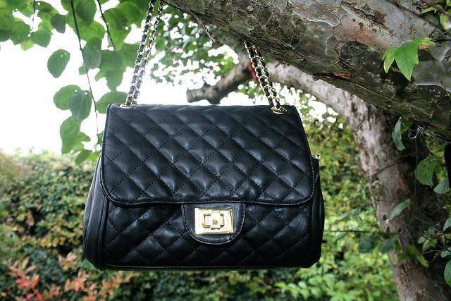 Knightsbridge Black Quilted Shoulder Bag 98