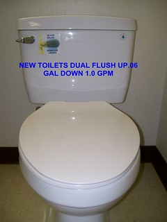 Greencastle's Dual Flush Commode