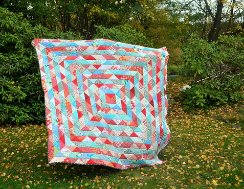 Scrappy warm/cool quilt