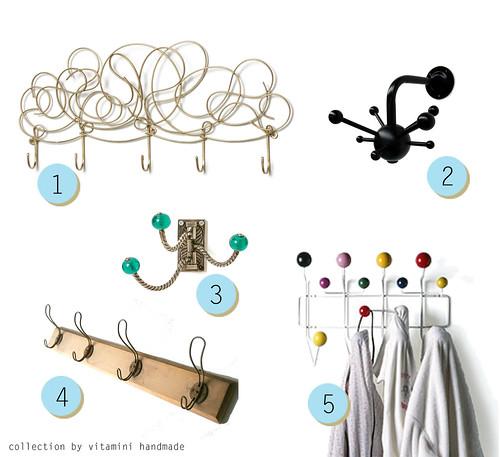 Modern coat hooks