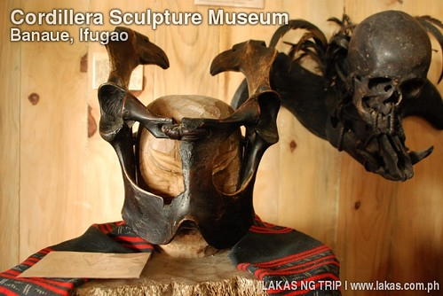 Warrior's Mask in Cordillera Sculpture Museum in Banaue, Ifugao
