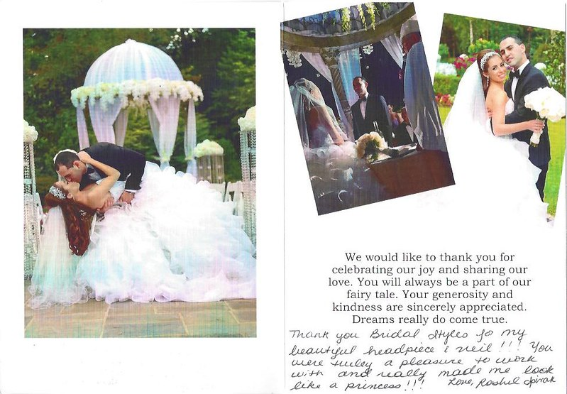 Bridal Styles Boutique thank you card from Rashel Spivak