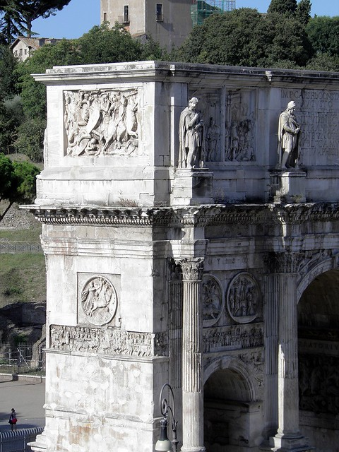 Arch of Constantine, Detail of the arch, North side, Rome