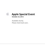 Apple Special Event - Oct 23, 2012