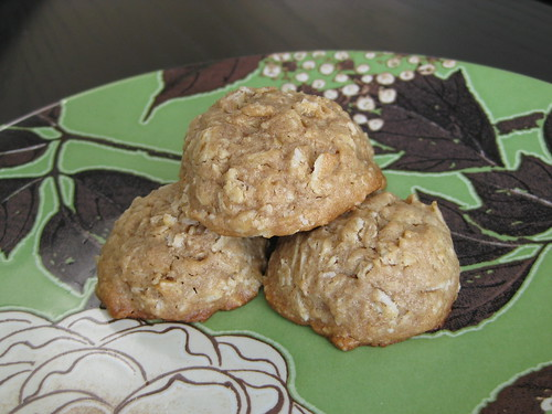 peanut butter oatmeal cookies (dropped)