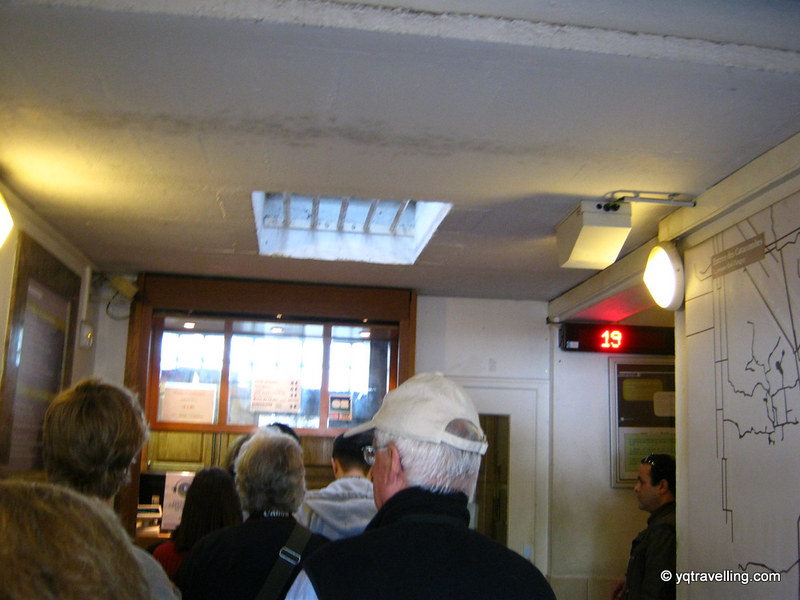 Ticket room to the Catacombs of Paris