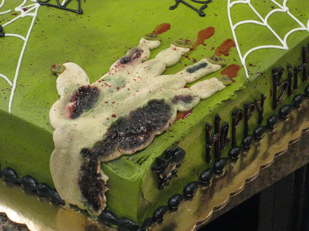 Strange Zombie Birthday Cake Terri Leckas Flickr Personalised Birthday Cards Veneteletsinfo