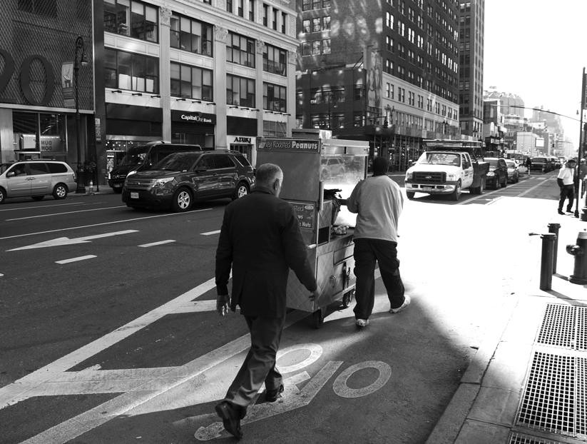 Street traders, New York, US, 12th October 2012