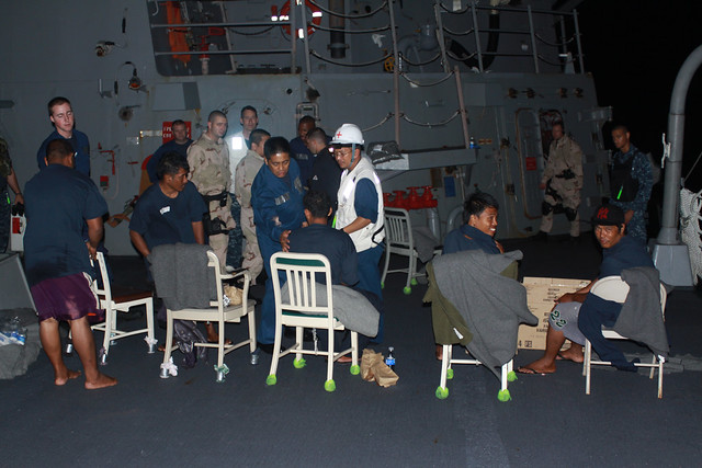 USS McCampbell  Rescues Stranded Fishermen