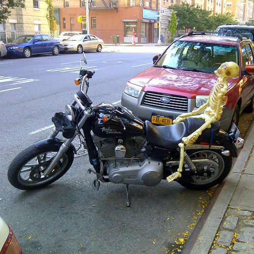 Harlem's bikers are ready for Halloween.