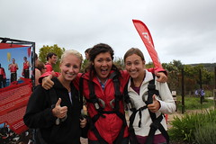 Mandy Stowers, Hannah Patterson and Meg Smeltzer excited to bungee!