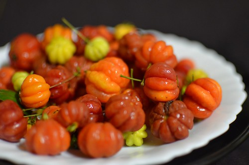 Platter of Nigeria cherries