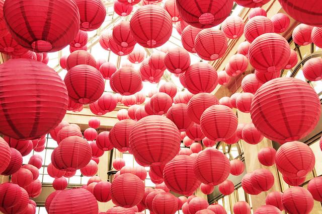 sunlit lanterns