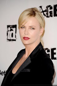 Charlize-intense - dreamy look - lovely red lips - RAGE Party LAX CA 30 SEP 2011