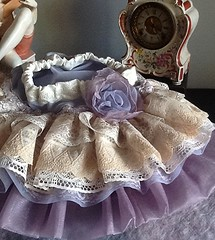 Vintage lace  Lavender ruffled toddler skirt by Rosanna Hope For Baby Bonbons