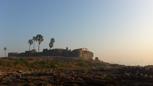 Madh fort from the fishing village