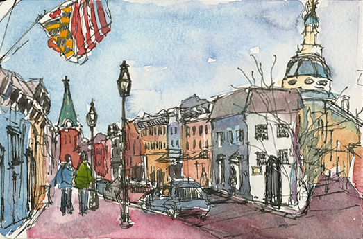 New Year's Day, Annapolis, Maryland