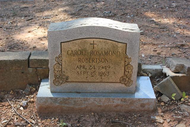 Carol Robertson, Greenwood Cemetery