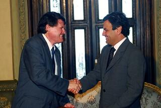 Aécio Neves e John Briscoe - 09/12/2008