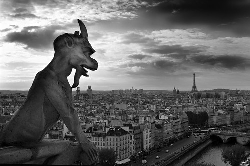 sky paris france eiffeltower notredame gargoyle supershot miguelyn bestcapturesaoi elitegalleryaoi