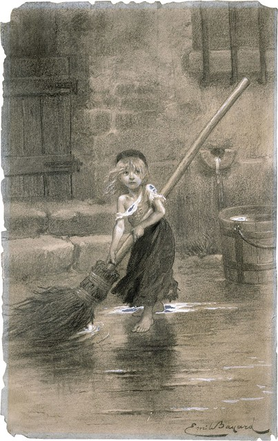 Cosette-sweeping-les-miserables-emile-bayard-1862
