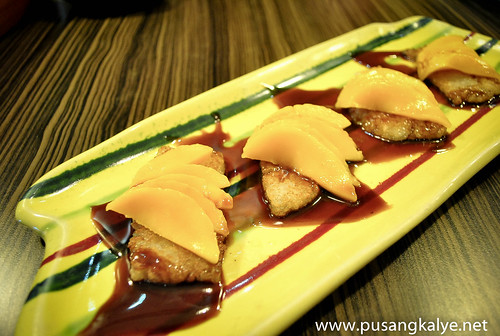 fried suman and mangoes @sentro