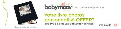 Offre Livre photos offerts sur l'achat de 39€ minimum de produits Babymoov