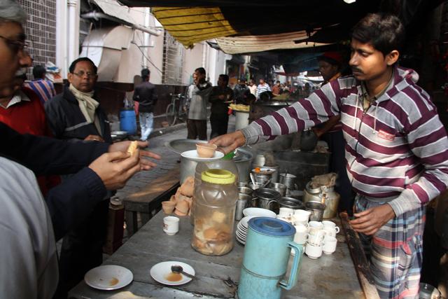 Kolkata street food lane (Deckers Lane now known as James Hickey Sarani)