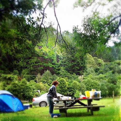 Camping the last 2 1/2 days.  No phone service unless drive into town.  #nz