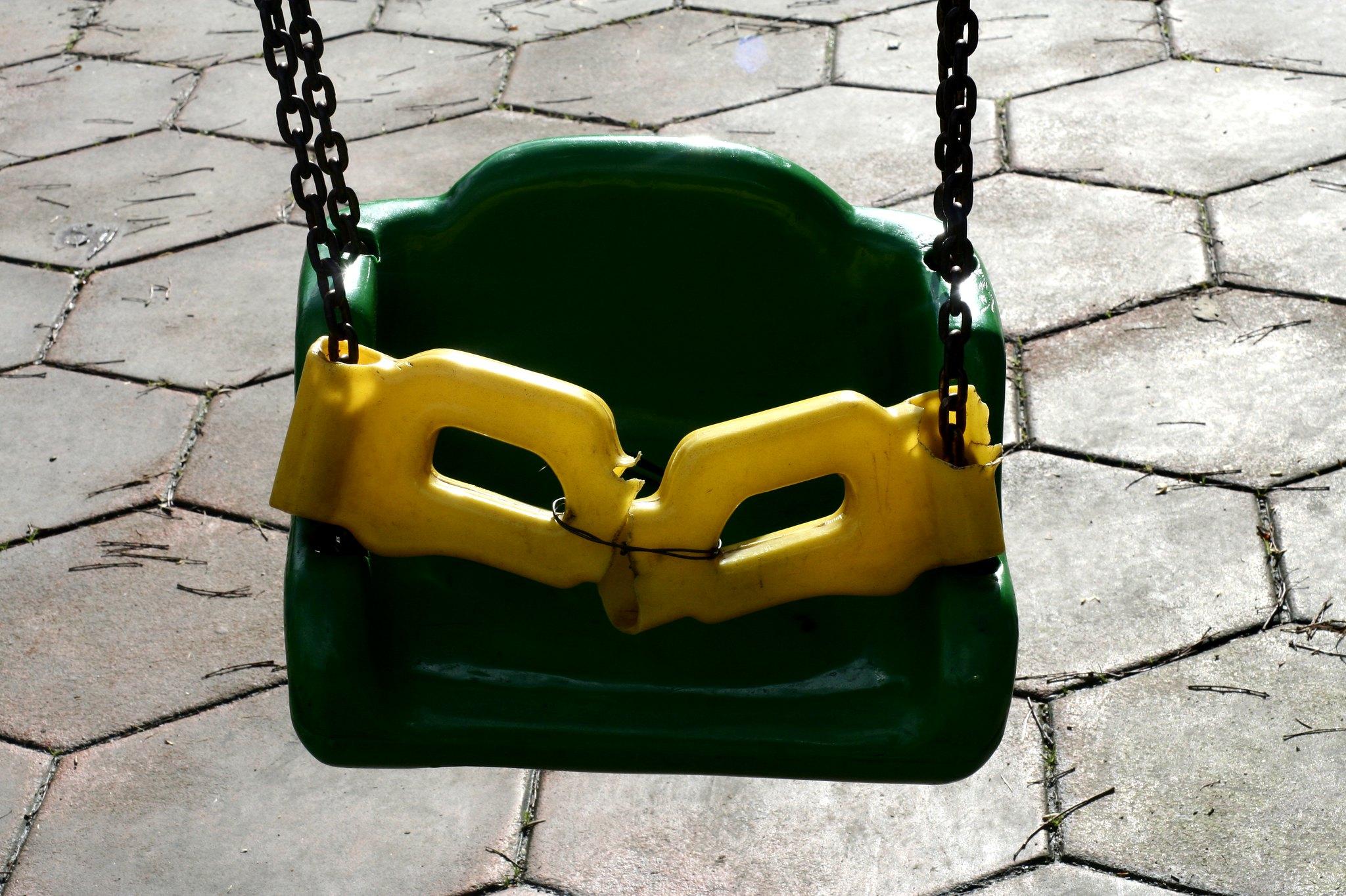 Repaired swing.