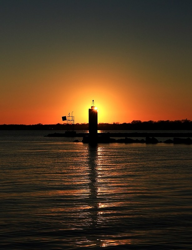 Jetti Light at the mouth of Patchogue River, NY