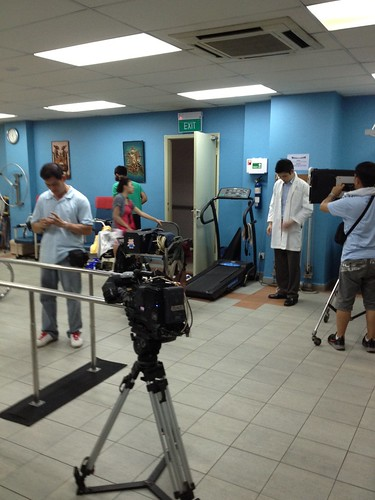 Filming for Mediacorp Channel 8 drama - 我们等你 - 2